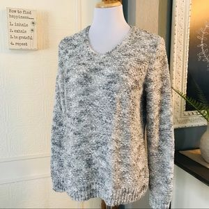 Croft and Barrow Gray and White Crewneck Sweater